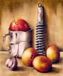 Obras de arte: America : Cuba : La_Habana : Vedado : Bodegón con mangos X