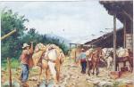 Obras de arte: America : Colombia : Sucre : sincelejo : ARRIEROS PAISAS