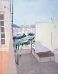 Obras de arte: Europa : España : Comunidad_Valenciana_Alicante : Xabia : Atardecer en la terraza