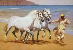 Obras de arte: Europa : España : Andalucía_Málaga : Málaga_ciudad : Cartujo y cobra en la playa