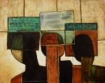 Obras de arte: America : México : Mexico_Distrito-Federal : Xochimilco : Tres cabezas
