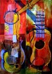 Obras de arte: America : Colombia : Santander_colombia : Bucaramanga : Guitarras Hermanas