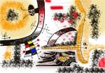 Obras de arte: Europa : Espa�a : Extremadura_Badajoz : badajoz_ciudad : Cruce de Caminos