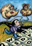 Obras de arte: America : Argentina : Buenos_Aires : 9_de_julio : La bestia ingresa a la net
