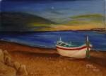 Obras de arte: Europa : España : Galicia_Pontevedra : A_Guarda_(La_Guardia) : MARINA NOCTURNA