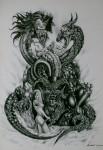 Obras de arte: America : México : Chihuahua : ciudad_juarez : EL ENGAÑO DE SIBILA A CANCERBERO