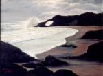 Obras de arte: Europa : España : Galicia_La_Coruña : Coruna : Atardecer na praia