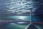 Obras de arte: Europa : España : Galicia_La_Coruña : Coruna : Luar no mar de San Antón do Corveiro