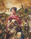 Obras de arte: America : México : Jalisco : Guadalajara : La Reina de los Monos Arlequín