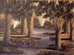 Obras de arte: Europa : España : Galicia_La_Coruña : Coruna : Bosque con río