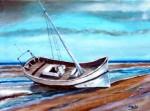 Obras de arte: Europa : España : Murcia : cartagena : barco en la playa