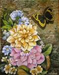 Obras de arte: America : Venezuela : Miranda : Caracas_ciudad : Flores y Mariposa I