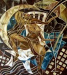 Obras de arte: America : Brasil : Sao_Paulo : Sao_Paulo_ciudad : BAÑISTA SENTADA EN UN SILLÓN AL BORDE DE UNA PISCINA