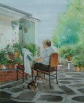 Obras de arte: Europa : España : Extrmadura_Cáceres : madroñera : mi madre y mi perro