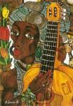 Obras de arte: Europa : España : Andalucía_Málaga : Málaga_ciudad : Africana con Guitarra