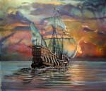 Obras de arte: America : México : Baja_California_Sur : lapaz : Galeón