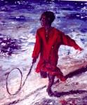 Obras de arte: Europa : España : Catalunya_Tarragona : Cambrils : el niño del aro
