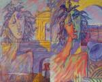 Obras de arte: Europa : España : Andalucía_Jaén : Jaen_ciudad : Úbeda y Baeza desde San Andrés