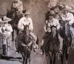 Obras de arte: America : México : Baja_California_Sur : lapaz : Uno a pie y los demas a caballo