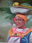 Obras de arte: America : Colombia : Santander_colombia : Bucaramanga : Vendedora de frutas