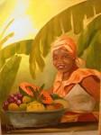 Obras de arte: America : Colombia : Santander_colombia : Bucaramanga : Vendedora de frutas 2