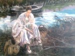 Obras de arte: Europa : España : Comunidad_Valenciana_Castellón : burriana : Sentada en la orilla