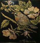 Obras de arte: America : Venezuela : Miranda : Caracas_ciudad : Pájaro y Rosas