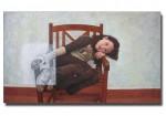Obras de arte: Europa : España : Comunidad_Valenciana_Alicante : VILLENA : Angela sentada