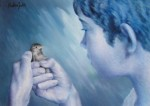 Obras de arte: Europa : España : Catalunya_Girona : olot : Nen amb ocell