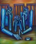 Obras de arte: America : Argentina : Buenos_Aires : Quilmes : Espera en Azul