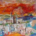 Obras de arte: Asia : Israel : Southern-Israel : beersheva : jerusalem en rojo