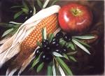 Obras de arte: Europa : España : Comunidad_Valenciana_Castellón : Soneja : Olivas y maíz