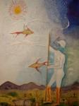 Obras de arte: America : Colombia : Risaralda : Pereira_ciudad : Hombre de la Tierra y el Viento