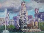Obras de arte: Europa : España : Andalucía_Málaga : Torre_del_Mar : Plaza de Cibeles. Madrid.