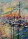 Obras de arte: Europa : España : Andalucía_Málaga : Torre_del_Mar : Atardecer en el Puerto