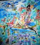 Obras de arte: America : Chile : Valparaiso : viña_del_mar : PUEBLO ESCONDIDO