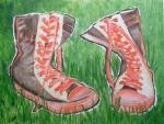 Obras de arte: Europa : España : Galicia_Pontevedra : Redondela : Ghastando as botas