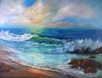 Obras de arte: Europa : España : Andalucía_Málaga : Torre_del_Mar : Gaviotas en la Playa