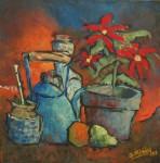 Obras de arte: America : Uruguay : Artigas : Artigas_ciudad : Mi mate, mi pava azul y mi estrella federal
