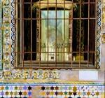 Obras de arte: Europa : España : Andalucía_Sevilla : sevilla : # 626 - Ventana del Cenador de Carlos V. Real Alcazar. SEVILLA.