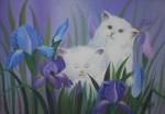 Obras de arte: America : Colombia : Bolivar : cartagenadeindias : gatos en el jardin 1