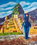 Obras de arte: Europa : Dinamarca : Kobenhavn : alb : Un danes en Machu Picchu