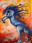 Obras de arte: America : Chile : Bio-Bio : Concepción : caballo azul