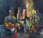 Obras de arte: America : Uruguay : Artigas : Artigas_ciudad : Las damas Juanas y don Florindo