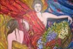 Obras de arte: Europa : España : Canarias_Las_Palmas : Las_Palmas_de_Gran_Canaria : MUJERES ENTRE MANTONES
