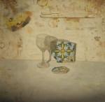Obras de arte: Europa : España : Comunidad_Valenciana_Alicante : VILLENA : Copa y azulejos rotos