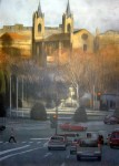 Obras de arte: Europa : España : Madrid : Madrid_ciudad : Sol de otoño sobre Los Jerónimos