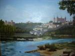 Obras de arte: Europa : España : Castilla_La_Mancha_Toledo : Toledo : Panorámica de Toledo desde la zona de Safon