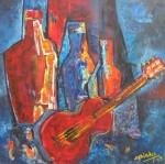Obras de arte: America : Uruguay : Artigas : Artigas_ciudad : La guitarra de Alfredo