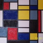 Obras de arte: Europa : España : Madrid : Madrid_ciudad : Mondrian Matérico